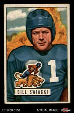 1951 Bowman #132 William Swiacki Lions EX