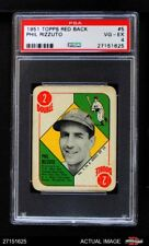1951 Topps Red Back #5 Phil Rizzuto -  Yankees PSA 4 - VG/EX