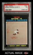1971 Topps #331 Brooks Robinson - 1970 World Series -  Orioles / Reds PSA 7 - NM