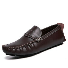 Genuine Leather US10-11 US12 Comfy Non-Slip Lightweight Moccasins Driving Shoes