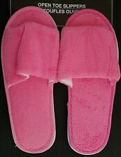 Ladies Open Toe Pink Slippers, Select: Size