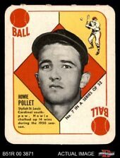 1951 Topps Red Back #7 Howie Pollet -  Cardinals EX/MT
