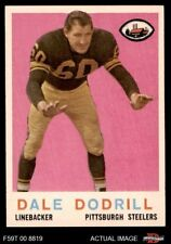 1959 Topps #34 Dale Dodrill Steelers NM