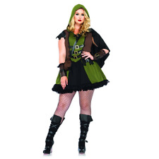 Leg Avenue Plus Size Darling Robin Hood 3-Piece Adult Halloween Costume - New