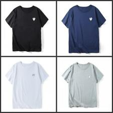 Men's Comme Des Garcons CDG Play white Heart Short Cotton Women's T-shirts S-XL
