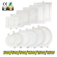Business LED Recessed Ceiling Panel Light Lamp Flat Downlight Fixture Wholesale!