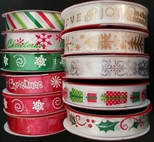 "Christmas Ribbons 5/8"" x 3 Yards/Pk Ribbon, Select: Type"