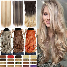 100% Natural Women 3/4 Full Head Clip In Hair Extension Real Thick as human FRn