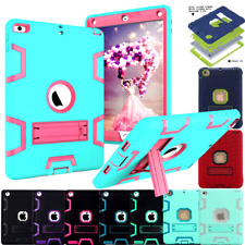 Hybrid Heavy Duty Rubber Shockproof Kick Stand Hard Case Cover For Apple iPad