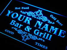 Name Personalised Custom Family Bar & Grill Beer Home Gift Neon Sign
