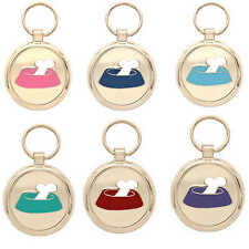 Pet Tag Dog Tag Engraved Dog Collar ID Tags Charm Bone Bowl Pawprint Pet Tags