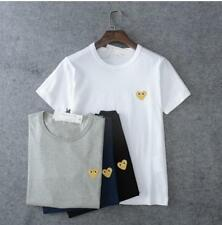 Unisex Japan style CDG Tee Shirt Play Comme Des Garcons Gold Heart T-shirts S-XL