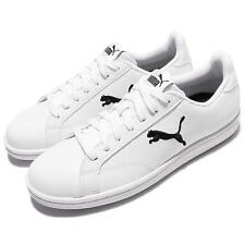 Puma Smash Cat L White Black Leather Men Casual Shoes Sneakers Trainer 362945-03