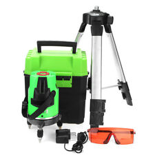 Self Leveling Rotating Rotary Laser Level Auto 360° 5 Line Cross RED Beam Tripod