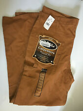 Walls Carpenter relaxed fit heavy duck straight leg jeans brown 40x34