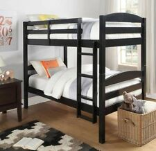 Black Wood Bunk Beds Twin Bed Bedroom Furniture Bunkbeds Bunkbed Twin over Twin