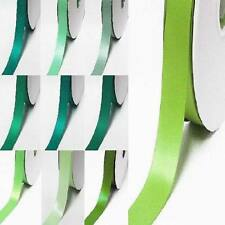 """by the 5 yards double faced satin ribbon 1"""" / 25mm.lime to green"""