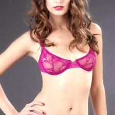MAISON CLOSE A FLEUR DE PEAU BALCONETTE BRA FUSCHIA PINK LACE 606633 36C NEW