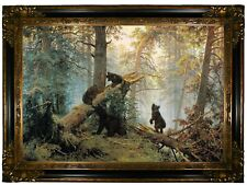 Shishkin Morning in a Pine Forest 1889 Wood Framed Canvas Print Repro 19x28