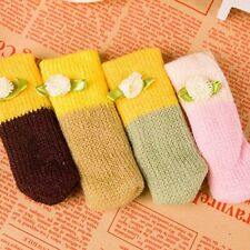 4pcs/set Knit Chair Table Leg Foot Sock Sleeve Cover Knit Wool Floor Protector