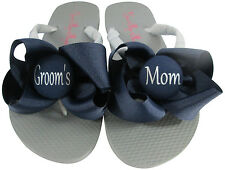 Design your Own Groom's Mom Bow Flip Flops- Mother of the Bride/ many colors