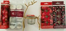 Christmas Holiday Reindeer Candle Holder & Tealight Candles, Select: Item