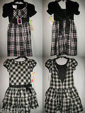 Girls Holiday Dress Special Occasion Plaid Ashley Ann Size 4 5 8  14