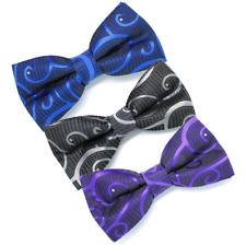 Royal Blue Crystal Swirl Wedding Bow (Pocket Square Option) by Dickie Bows #1062