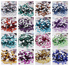 Wholesale 20Pcs Faceted Round Crystal Flat Back Acrylic Rhinestones 10mm DIY New