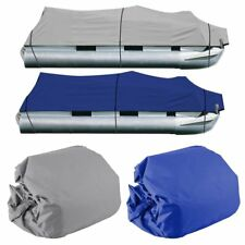 NEW 25-28Ft 600D Waterproof Heavy Duty Fabric Trailerable Pontoon Boat Cover HS2