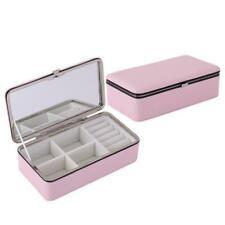 Jewellery Organiser Storage Box Necklace Ring Earring Holder with Mirror