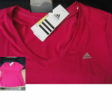 young adult womens adidas performance climalite Crew neck T-shirt sports Top new
