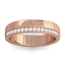 0.15ct FG SI Women's Classic Eternity Wedding Anniversary Band Rose Gold