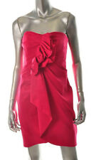 PHOEBE COUTURE $310 Pink Stretch Strapless Bridesmaid Evening Dress Sz 4 NEW
