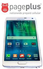 Unlocked Pageplus Samsung Galaxy Note 4 - 32GB - 4G LTE - UNLIMITED DATA