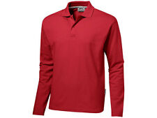 Slazenger Polo Shirt Polo Shirt Polo Shirt S M L XL XXL Red Long Sleeve NEW