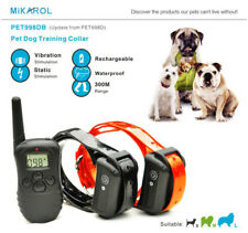Waterproof 300 m Dog Shock Training Collar Pet Trainer with Remote RECHARGEABLE