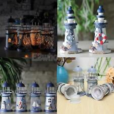 Mediterranean Style Light Houses Candlestick Candle Holder Tea Light Home Decor