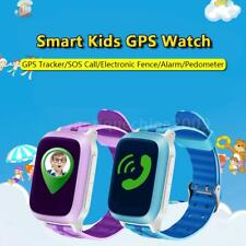 "1.44"" LCD Kids Smart Watch Phone GPS Tracker SOS Locator Finder Children Q3B6"