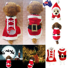 Christmas Dog Coat Puppy Jacket Pet Clothes Xmas Party Costume Outfit Apparel
