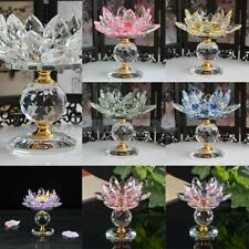 Glass Crystal Lotus Tealight Holder Candle Holder Candlestick Buddhist Decor