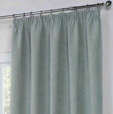 Paloma Duck Egg Basket Weave Woven fully Lined Pencil Pleat Ready-made Curtains