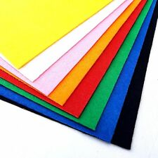 A4 Felt Sheets Multi Colour Assorted Kids Art & Craft Childrens Fabric 21x30cm