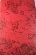 Happpy Holiday  Poinsettia, Holly w/Berries  Vinyl Tablecloths Asstd. Sizes Red