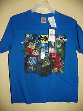 LEGO DC HERO/BATMAN ROBIN VILLAINS-BOYS 4/5 thru 10/12-LICENSED SHORT SLEEVE-NWT