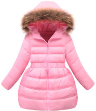 Winter jacket/coat for girls,hooded outerwear with faux fur