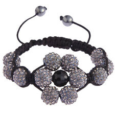 Women's Elegant Shamballa Bracelet Ladies Crystal Disco Ball Friendship Bead