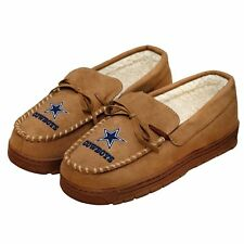 Dallas Cowboys Tan Brown Moccasin Slippers House Shoes w/ Original Gift Box NFL