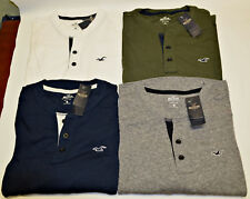 HOLLISTER Mens Must Have Slim Fit Henley Long Sleeve T-Shirt  S/M/L/XL/XXL ~NWT
