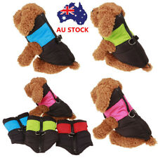 AU Dog Coat Jackets Puppy Pet Warm Padded Winter Puffer Clothes Apparel Costume